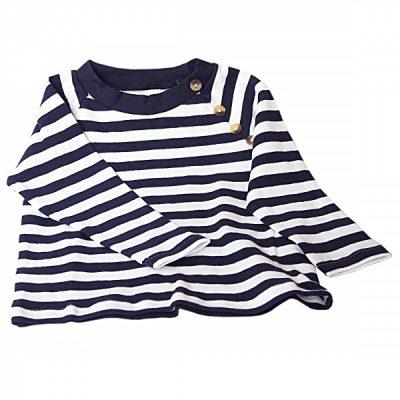 Ola blå/hvit stripete genser